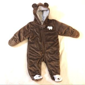 Carter's Baby Boy Fleece Footed One Piece Snowsuit